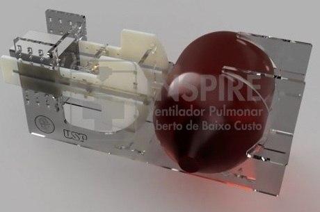 Protótipo de ventilador pulmonar feito pela Poli-USP
