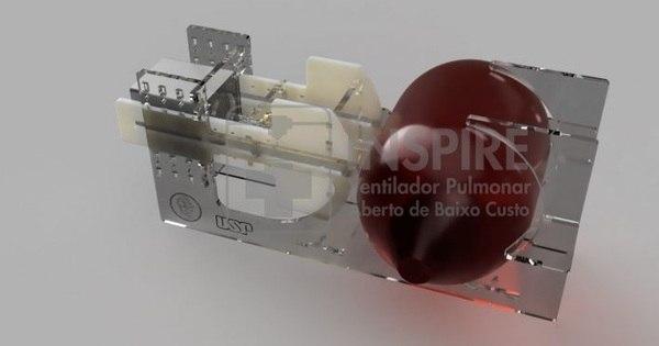 Pesquisadores da USP criam ventilador pulmonar de baixo custo