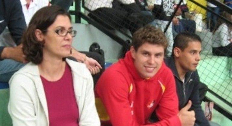 Vera Mossa e Bruninho, em 2011