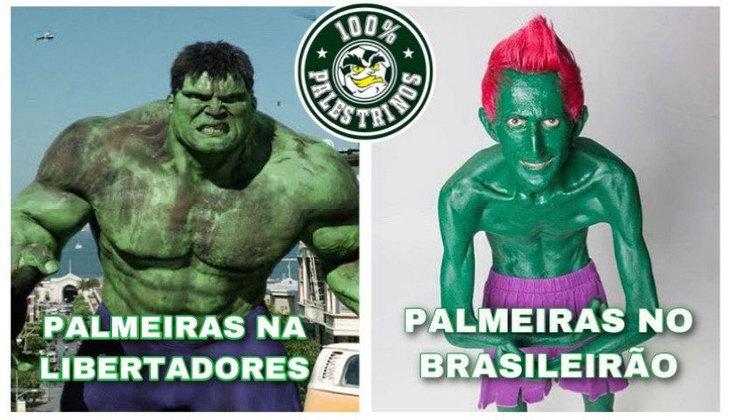 Verdão venceu o adversário por 5 a 0 e terminou como o clube com melhor campanha na fase de grupos da Libertadores. Gol de Rony rendeu memes.  (Por Humor Esportivo)