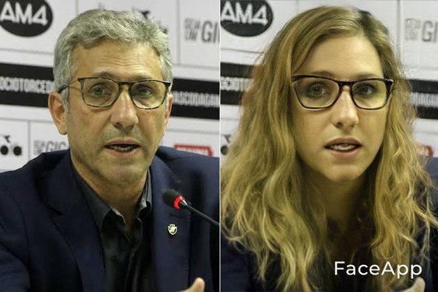 Versão feminina de Alexandre Campello, atual presidente do Vasco