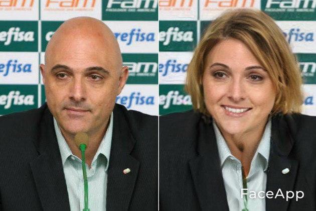 Versão feminina de Maurício Galiotte, atual presidente do Palmeiras
