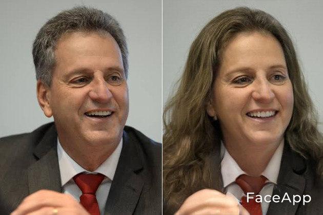 Versão feminina de Rodolfo Landim, atual presidente do Flamengo