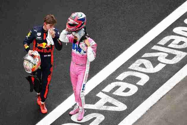 Verstappen e Stroll fizeram a primeira fila do grid.
