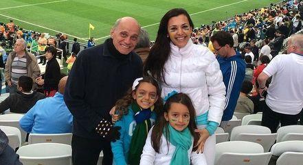 Boechat, Veruska e as filhas, Valentina e Catarina