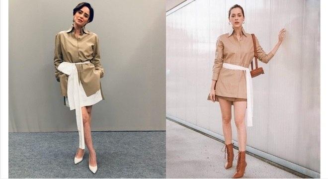 As duas famosas apostaram no vestido da grife Fendi em cores diferentes. Qual seu preferido?