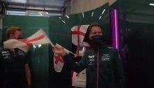 Vettel é zoado por companheiros após queda da Alemanha na Euro