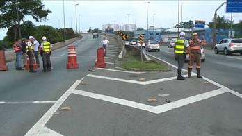 __Prefeitura interdita viaduto que liga marginal Tietê até a Dutra__ (Reprodução)