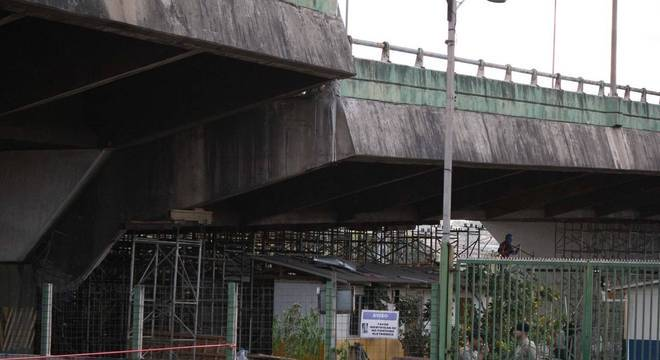 Viaduto na marginal Pinheiros, em São Paulo, ruiu dois metros em 2018