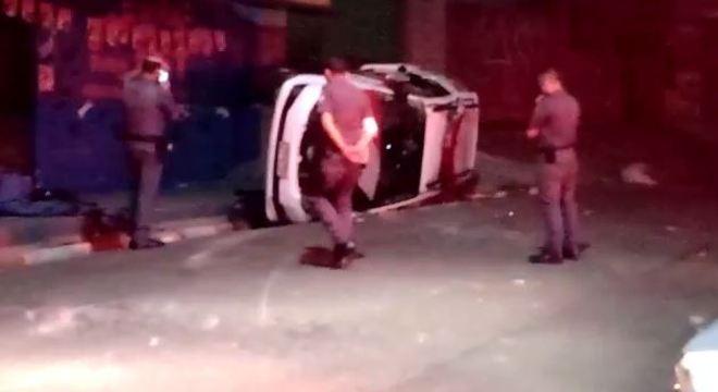 Policiais perseguiam motociclista suspeito no momento do acidente