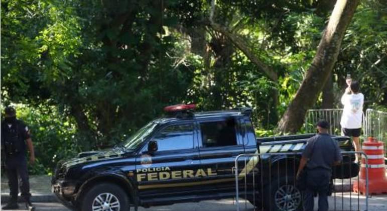Viatura da Polícia Federal; criminoso paraguaio foi detido em Mato Grosso