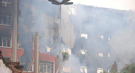 Incêndio atinge prédio da SSP-RS