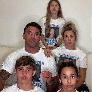 Victor Belfort e a família