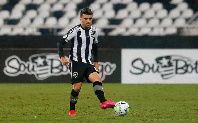 Victor Luís - 27 anos - Botafogo - Lateral - Contrato até: 28/02/2021 - Emprestado pelo Palmeiras, o futuro de Victor Luís no Botafogo é incerto, já que o clube está muito próximo de ser rebaixado.