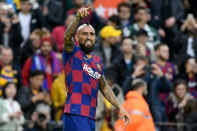 Vidal - 96 jogos pelo Barcelona, 11 gols e 10 assistências.