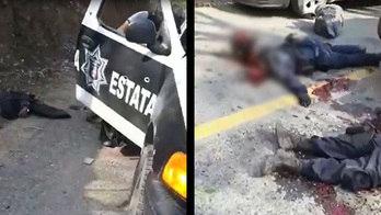 __Traficantes mexicanos divulgam vídeo de execução de policiais__ (Reprodução)