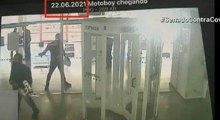 Imagens de câmeras de segurança mostram Ivanildo chegando em agência bancária, conforme apuração da CPI