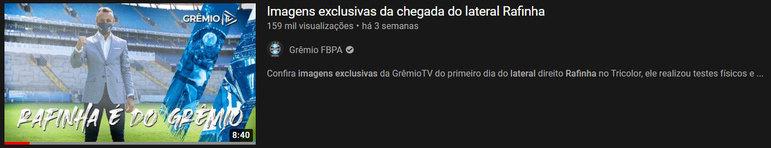 """Vídeo mais visto do mês: """"Imagens exclusivas da chegada do lateral Rafinha""""/29 de mar. de 2021"""