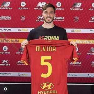 Viña ganhou a camisa 5 na Roma