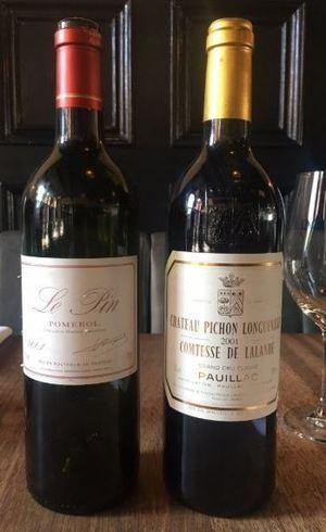 Vinho solicitado e o servido são da mesma região, Bordeaux