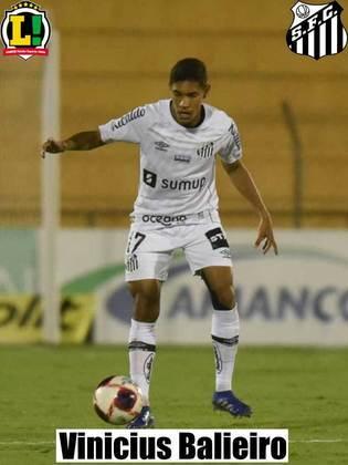 Vinícius Balieiro – 5,5 – Improvisado de zagueiro, fez uma boa partida, não comprometendo.