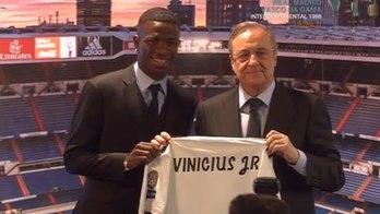 Vinícius Júnior é apresentado no Real Madrid: 'É o maior de todos' (Instagram)