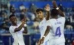 O brasileiro Vinícius Júnior também marcou na goleada por 4 a 1 sobre os adversários