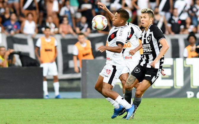 Vinícius Paiva - estreou em 2020 - 11 jogos e 0 gols - Uma das promessas do Vasco para 2020, Vinícius iniciou muito bem a temporada.