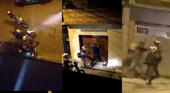 Vídeos nas redes sociais mostraram ações agressivas de policiais militares