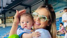 Virginia Fonseca leva Maria Alice no estádio do Real Madrid