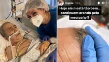 Virginia Fonseca chora ao falar da saúde do pai, que está na UTI