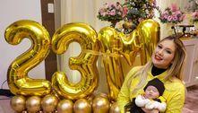 Nora de Leonardo celebra milhões de seguidores em festa da filha