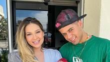 Virginia Fonseca e Zé Felipe deixam maternidade com Maria Alice