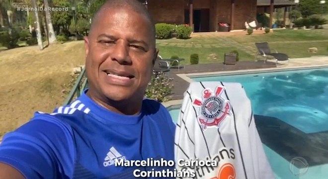 O ex-jogador Marcelinho Carioca participa da campanha