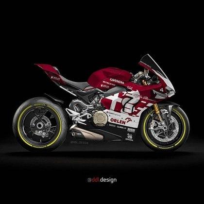 Visão geral da pintura da Alfa Romeo na MotoGP