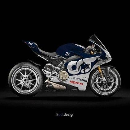 Visão geral da pintura da AlphaTauri na MotoGP