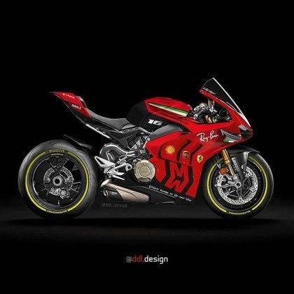 Visão geral da pintura da Ferrari na MotoGP