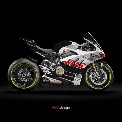 Visão geral da pintura da Haas na MotoGP