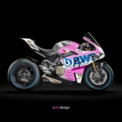 Visão geral da pintura da Racing Point na MotoGP