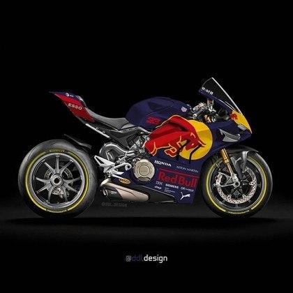 Visão geral da pintura da Red Bull na MotoGP