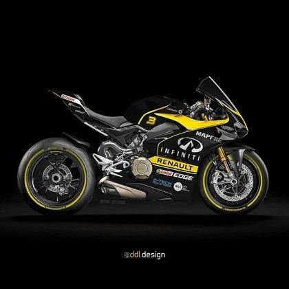 Visão geral da pintura da Renault na MotoGP