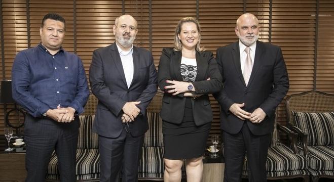 Marcelo Cardoso, Luiz Cláudio Costa, Joice Hasselmann e Marcus Vinícius Vieira