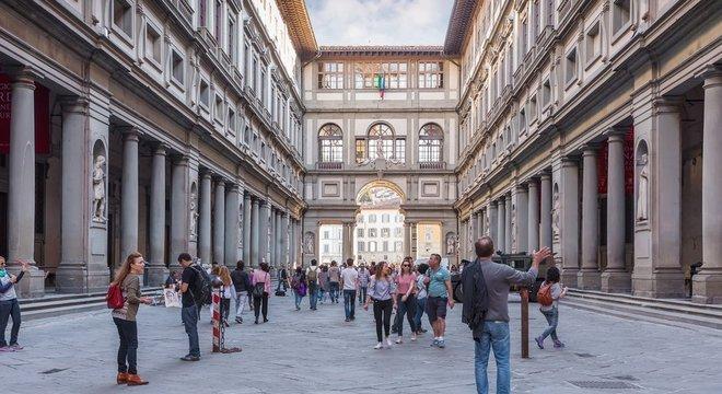 A Galeria Uffizi se apresenta como o museu mais rentável da Itália