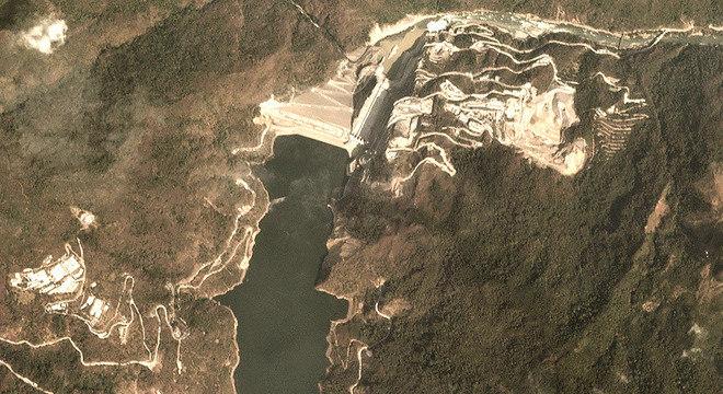 Em 5 de fevereiro, a empresa EPM cortou o fluxo de água, fazendo com que o rio desaparecesse em poucas horas