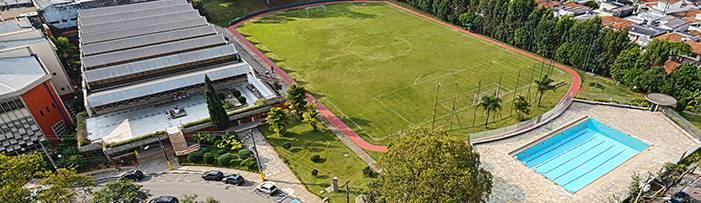 Vista aérea do campus de São Caetano do Sul do Instituto Mauá de Tecnologia