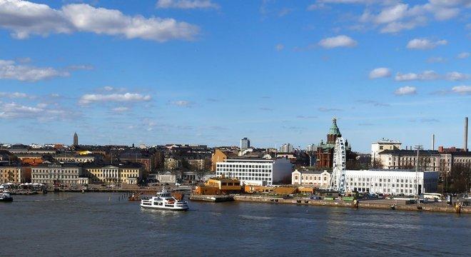 Vista de Helsinque, capital da Finlândia; país tem um dos mais altos PIBs per capita e é o 'mais feliz do mundo'