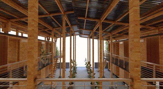 Bambu é material abundante nas Filipinas e pode ser cultivado em terra de baixa qualidade