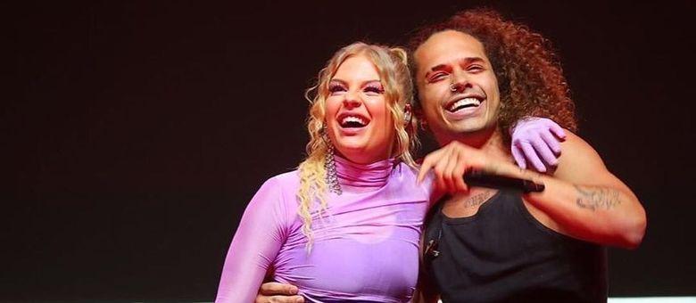 Vitão e Luísa Sonza no Allianz Parque no início deste mês