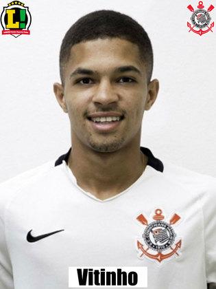 Vitinho – 6,5 – Deu movimentação ofensiva para o meio-campo do Corinthians, arriscou de fora da área, mas pouco acrescentou em chances claras de gol.