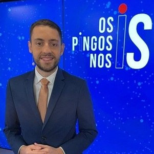 "Vitor Brown é o apresentador de ""Os Pingos nos is"""